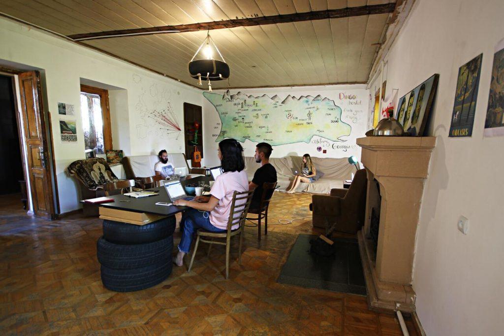 dingo hostel kutaisi common area