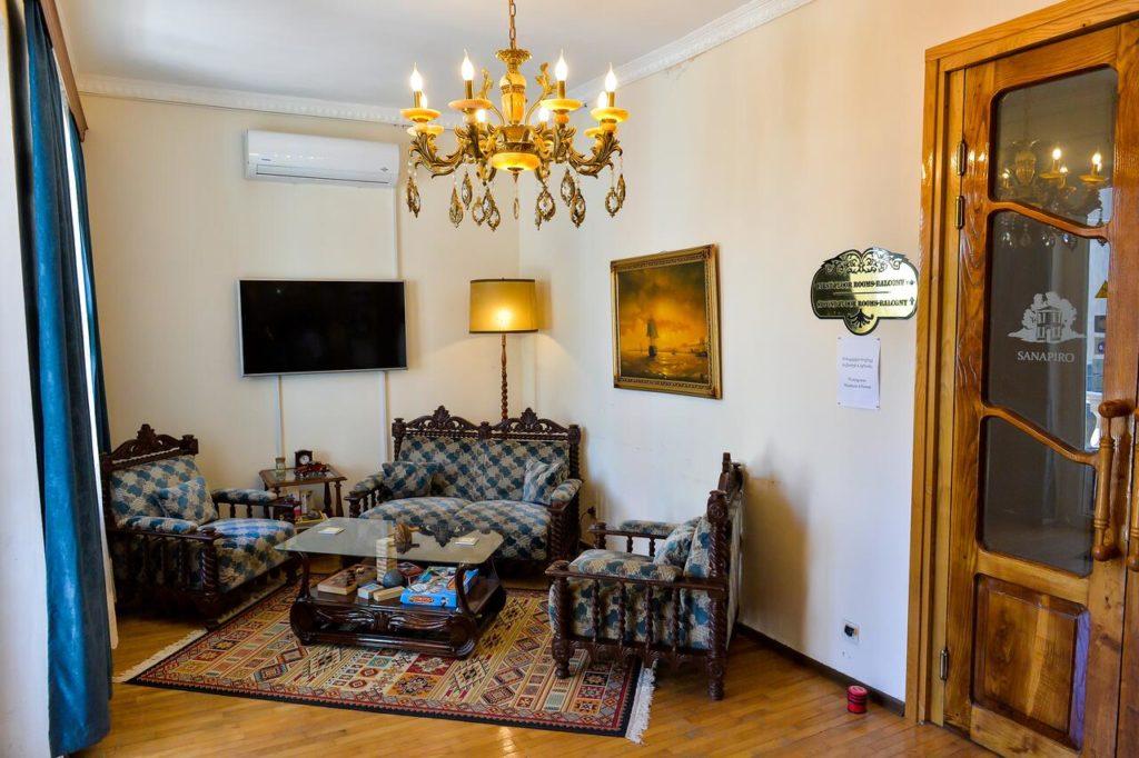 sanapiro hotel kutaisi common area