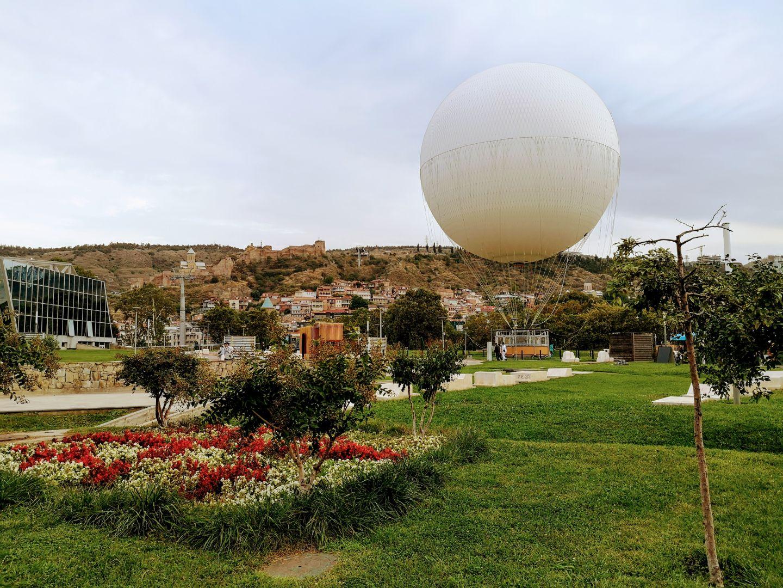 hot air balloon rike park tbilisi