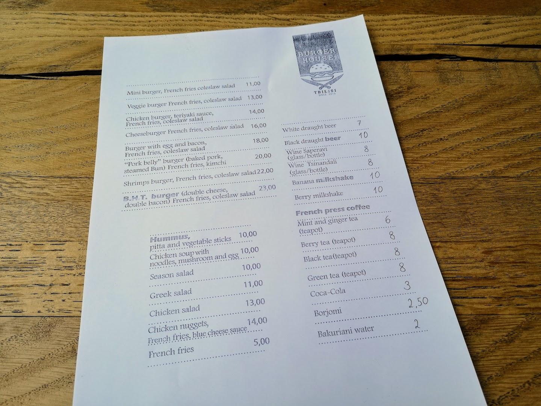 international restaurants in georgia menu