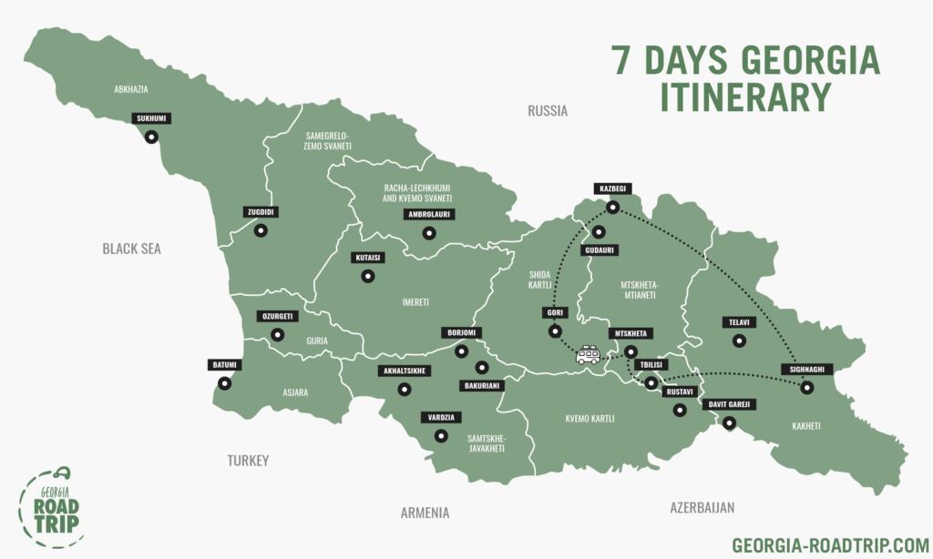 georigia 7 days itinerary