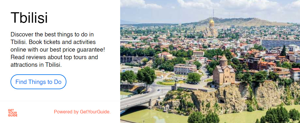 get your guide app tbilisi